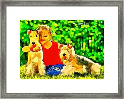 Nice Kids Framed Print by Leonardo Digenio