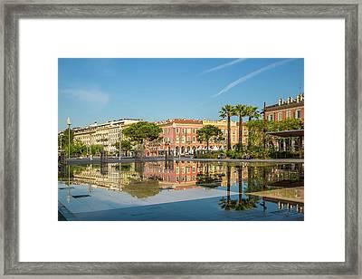 Nice Mirror Of Water Framed Print