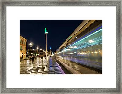 Nice Place Massena In The Evening Framed Print