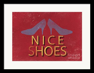 Shoes Drawings Framed Prints