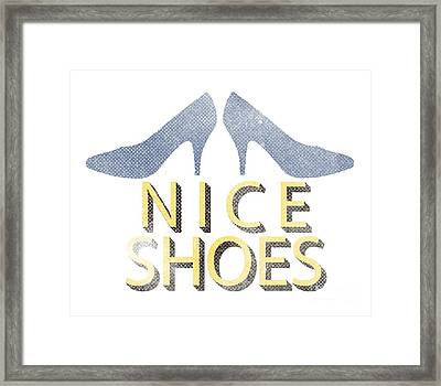 Nice Shoes Tee Framed Print by Edward Fielding