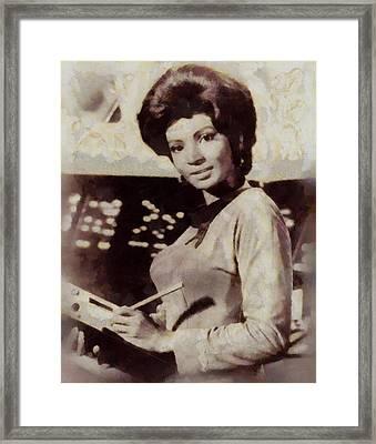 Nichelle Nichols, Lt. Ururu, Star Trek Vintage Framed Print by Sarah Kirk