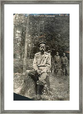 Nicholas II (1868-1918) Framed Print by Granger