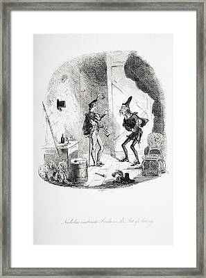 Nicholas Instructs Smike In The Art Of Framed Print by Vintage Design Pics