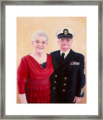 Framed Print featuring the painting Nichols Portrait by Mike Ivey