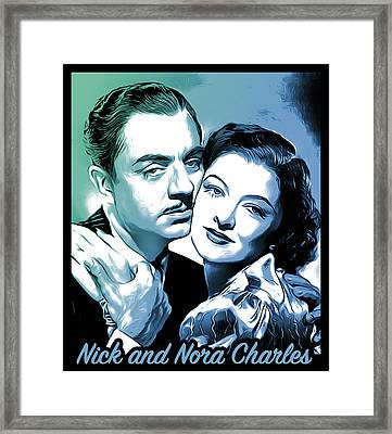 Nick And Nora Framed Print