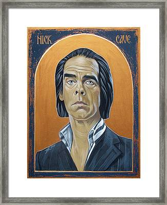 Nick Cave 3 Framed Print by Jovana Kolic