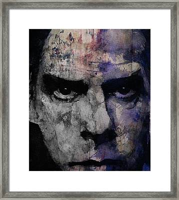 Nick Cave Retro Framed Print by Paul Lovering