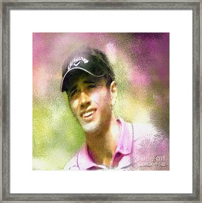 Nick Dougherty In The Golf Trophee Hassan II In Morocco Framed Print by Miki De Goodaboom