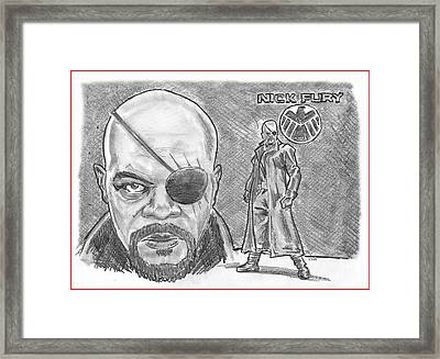 Nick Fury- Agent Of Shield Framed Print by Chris  DelVecchio
