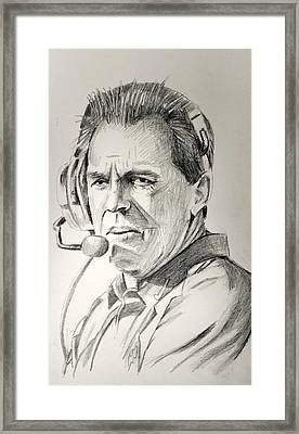 Nick Saban 121615 Framed Print