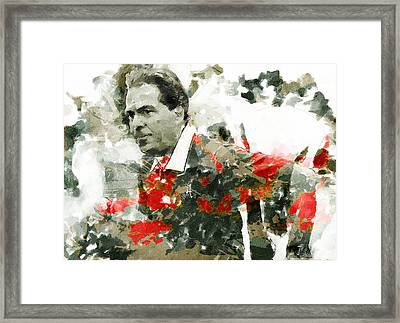 Nick Saban A Simple Portrait Framed Print