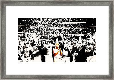 Nick Saban Celebrates Framed Print by Brian Reaves