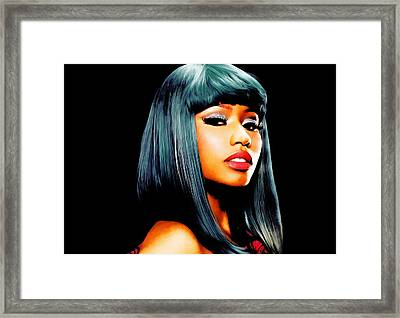 Nicki Minaj 3c Framed Print by Brian Reaves