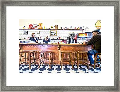 Nick's Diner Framed Print