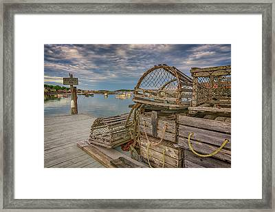 Nick's Dock Too Framed Print by Rick Berk