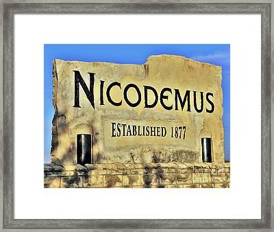 Nicodemus, 1877 Framed Print