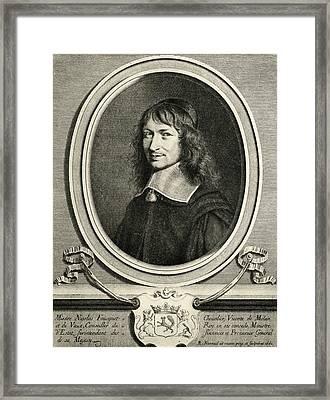 Nicolas Fouquet,1615-1680. Chevalier Framed Print by Vintage Design Pics
