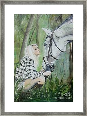 Nicole And Cellie Framed Print by Isabella F Abbie Shores FRSA