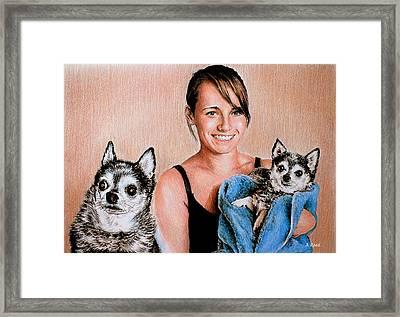 Nicole And Julieann Framed Print