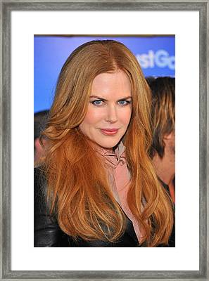 Nicole Kidman At Arrivals For Just Go Framed Print by Everett