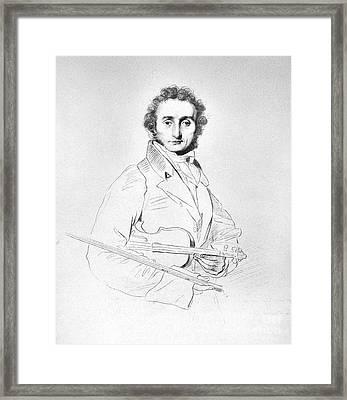 Nicolo Paganini (1782-1840) Framed Print