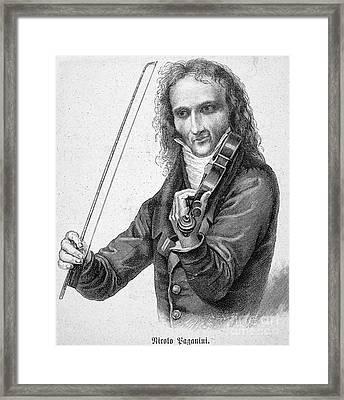 Nicolo Paganini Framed Print
