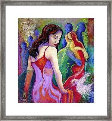 Nidia Framed Print by Claudia Fuenzalida Johns
