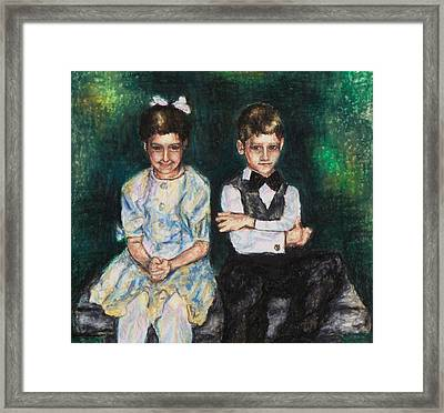 Niece And Nephew At The Wedding Framed Print by Laurie Tietjen