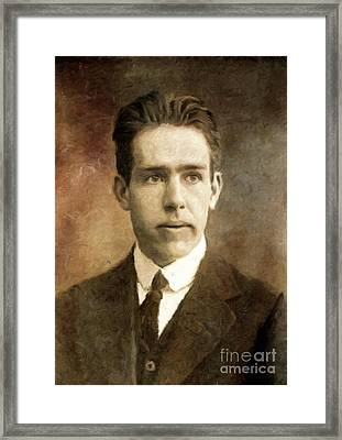 Niels Bohr, Physicist By Mary Bassett Framed Print