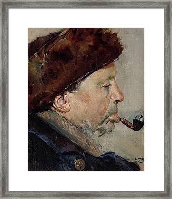 Niels Gaihede Framed Print by Christian Krohg