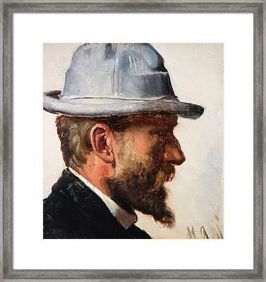 Niels Pedersen Mols Framed Print by Michael Ancher