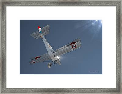 Nieuport 17 In The Blue Sky Framed Print by David Collins