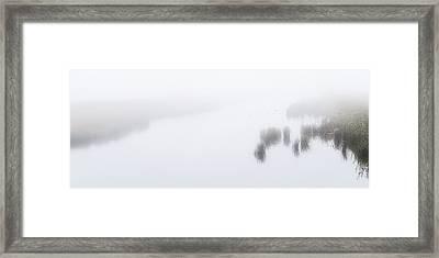 Nieuwe Natuur In De Mist --- Man-made Nature In The Mist Framed Print