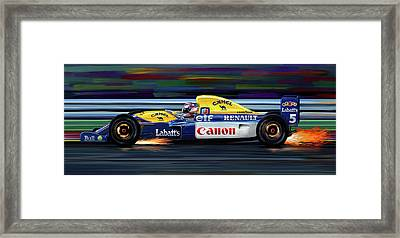 Nigel Mansell Williams Fw14b Framed Print by David Kyte