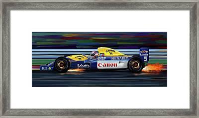 Nigel Mansell Williams Fw14b Framed Print