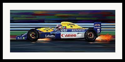 Indy Car Digital Art Framed Prints