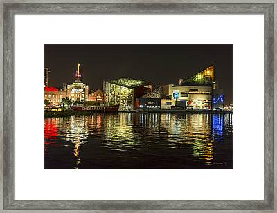 Night Across The Harbor  Framed Print by Brian Wallace