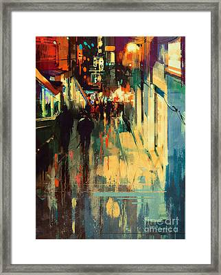Night Alleyway Framed Print