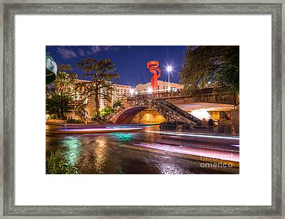 Night Along The Riverwalk Framed Print by Tod and Cynthia Grubbs