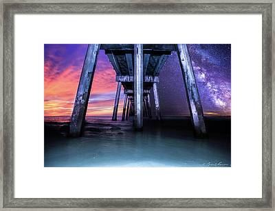 Night And Day Difference- Pensacola Beach Framed Print by Brent Shavnore