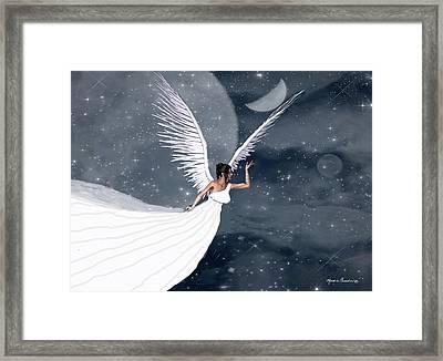 Night Angel Framed Print by Rosalie Scanlon