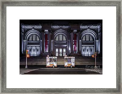 Night At A Museum Framed Print by Evelina Kremsdorf