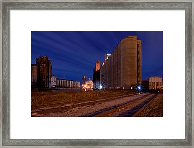 Night At Elevator Alley Framed Print