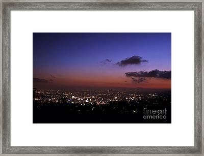 Night At Griffeth Observatory Framed Print by Clayton Bruster