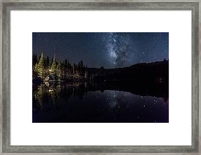 Night At Lake Mamie Framed Print