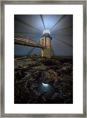 Night At Marshall Point Framed Print