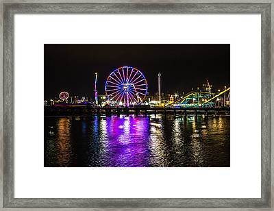 Night At The Carnival Framed Print