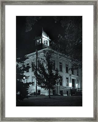 Night At The Court House Framed Print by Jim Furrer