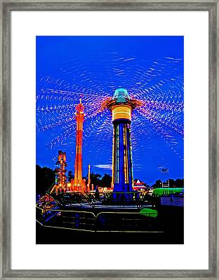 Night At The Fair Framed Print